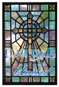 unique and united with stained glass