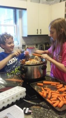 Making bone broth in the crock pot