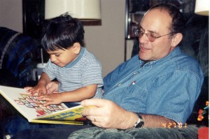 Papa Emil with Nick April 2001